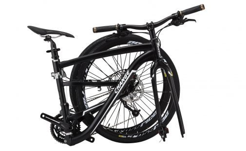 Folding Rugged Hybrid Bike, Black, 19 inch