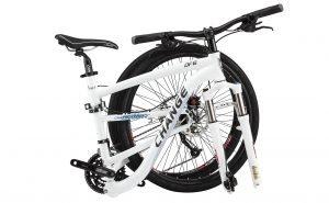 DF 609 White Bike Folded