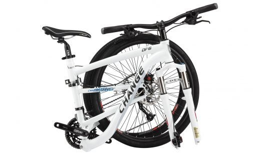 DF 609 White Bike Folded