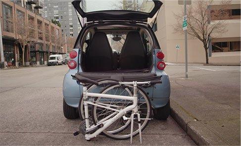 Closed Change Bike with Car