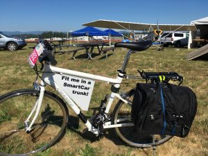 Folding Full-size Bike with Costco Suitcase for Short Trips
