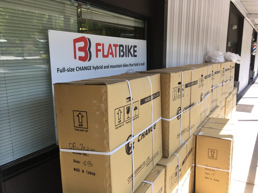 bikes ready for international shipping