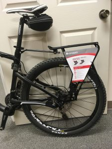 MTB rack on bike