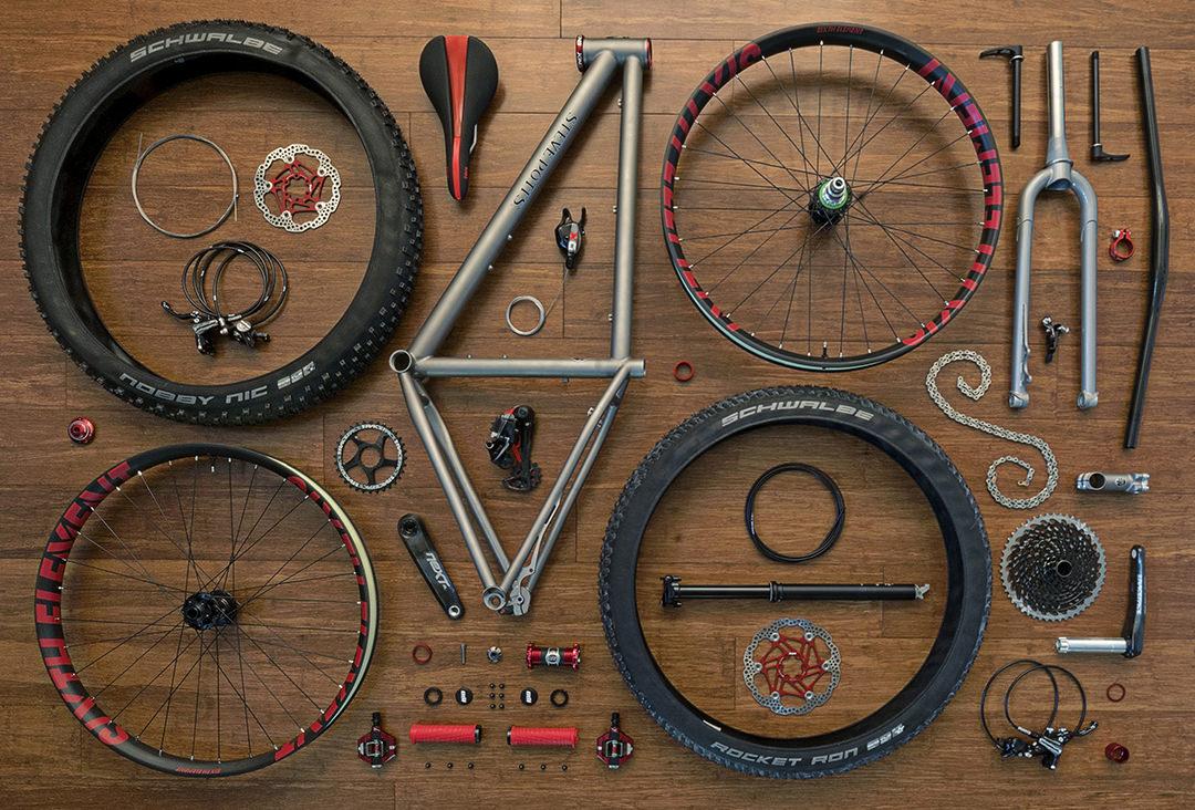 disassembled bike