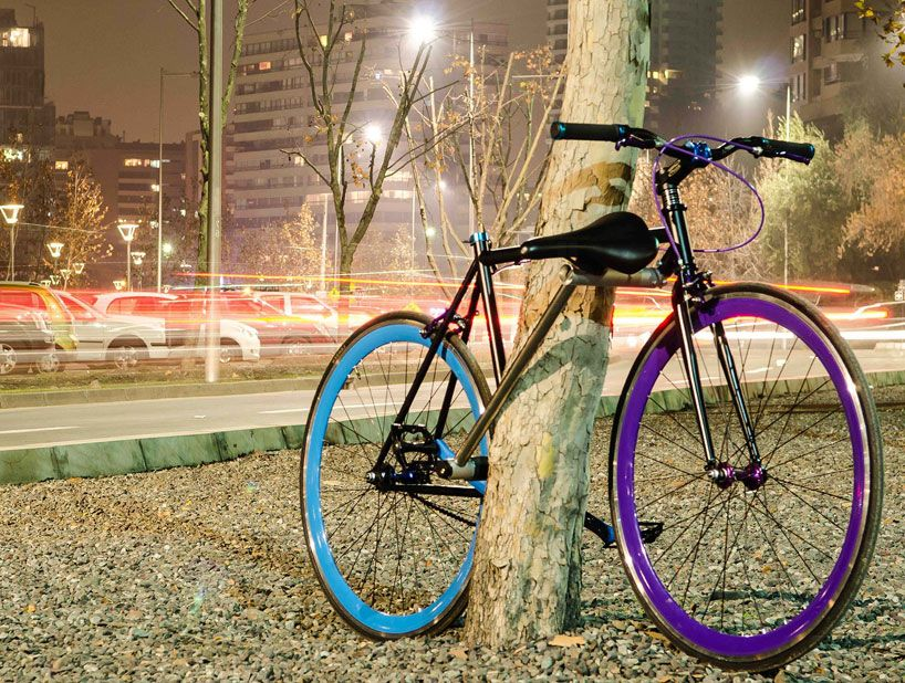 Bike with built-in lock to deter theft