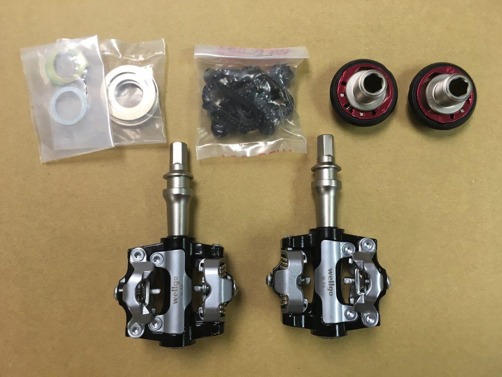Elements of an SPD pop-off pedal set