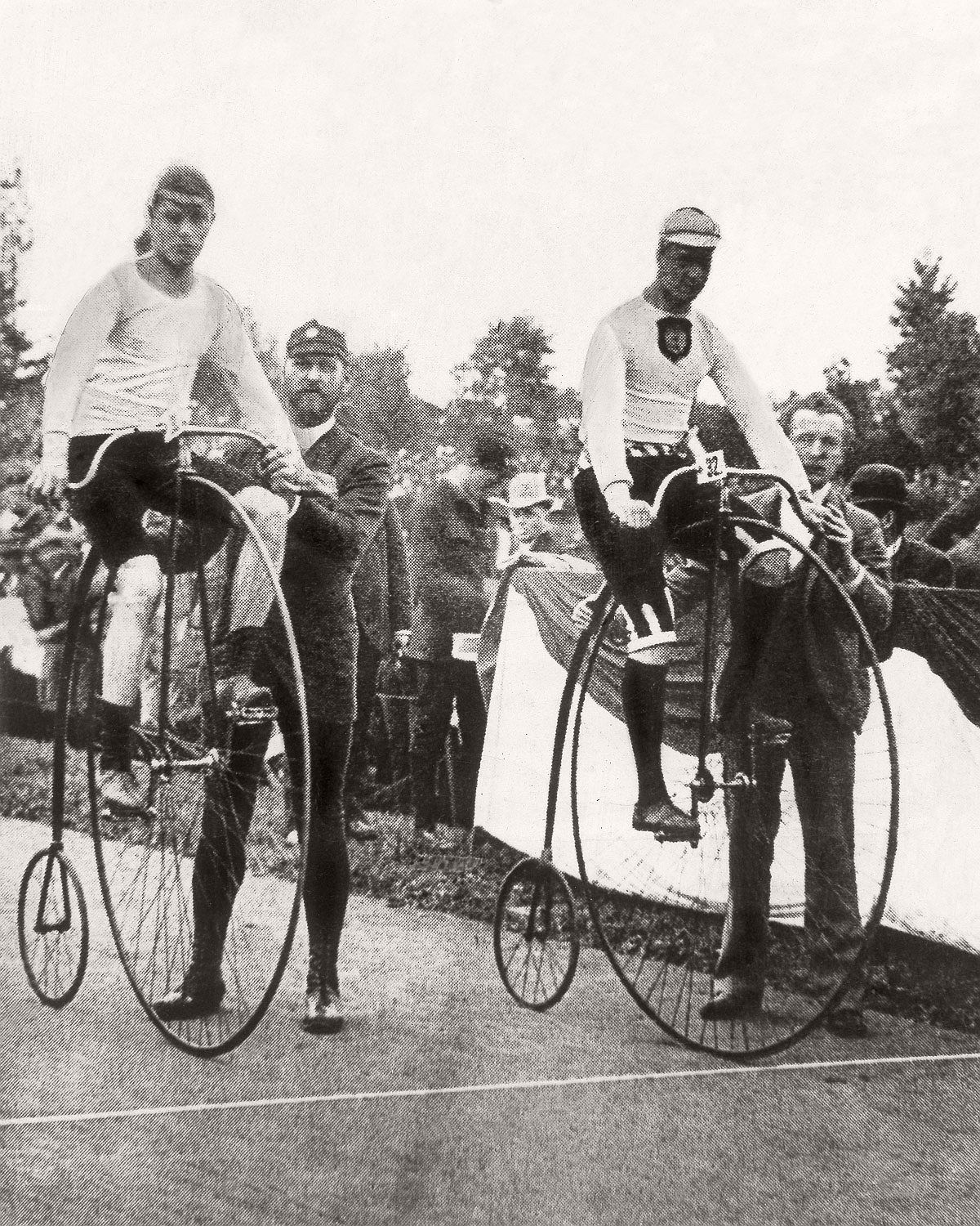 dropped penny farthings