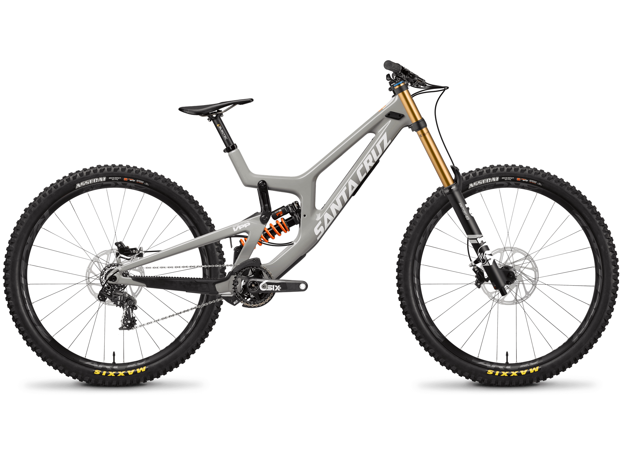Santa Cruz V10 full-suspension bike.