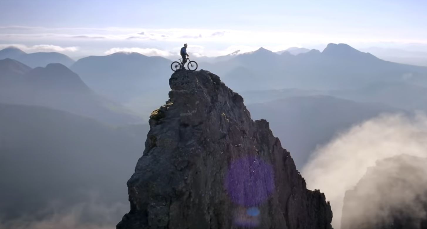 Danny MacAskill on top of the world.