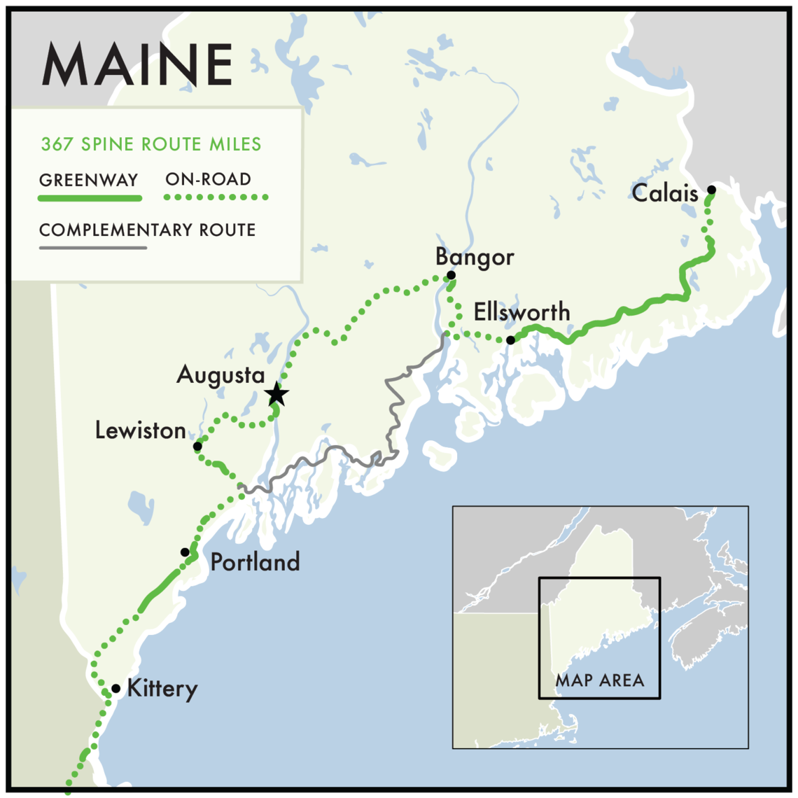 Greenway through Maine