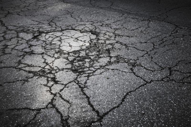 cracked roads