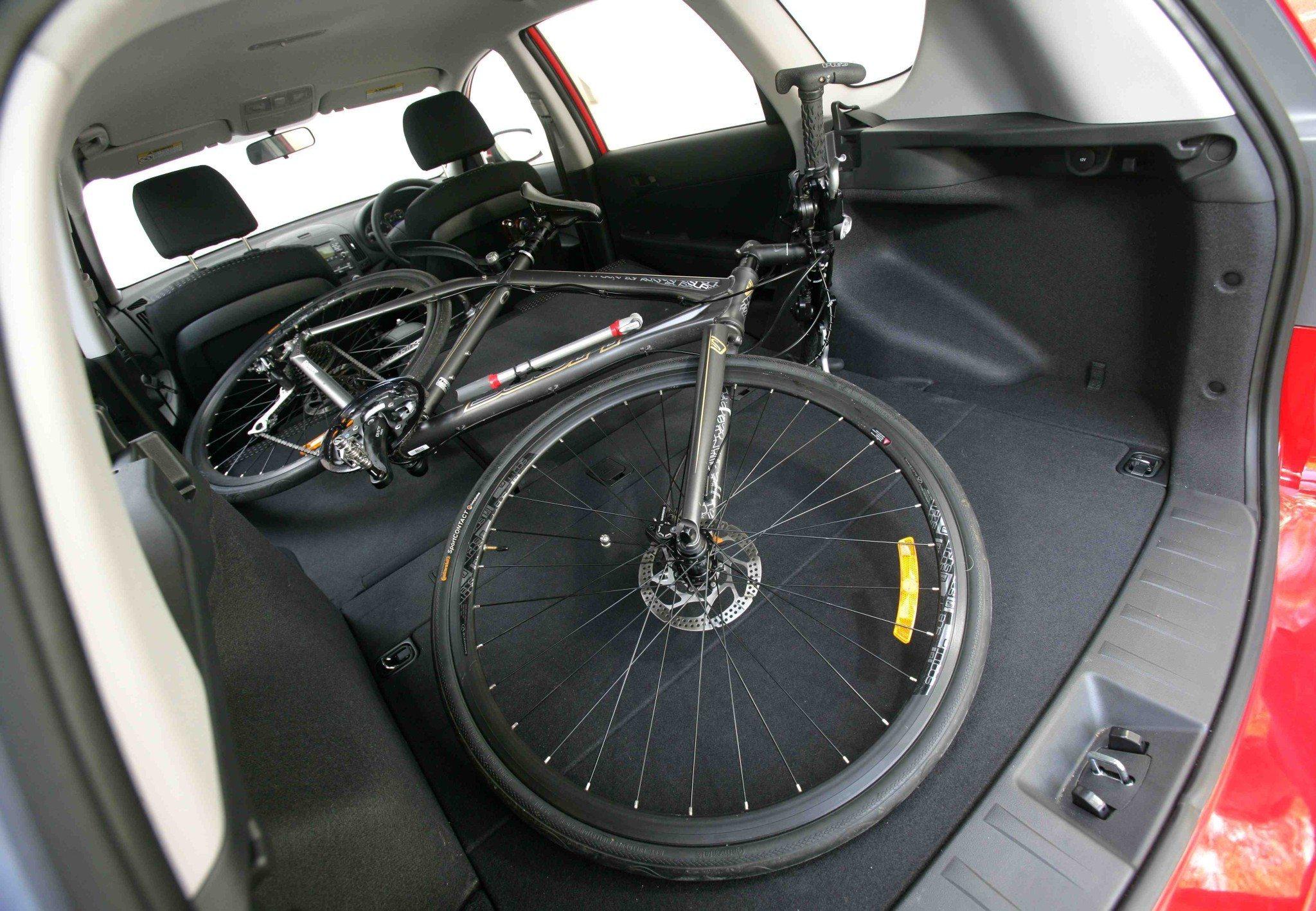 bike in a car
