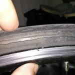 cracked tire