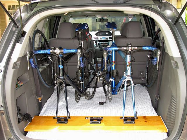 two bikes in a car