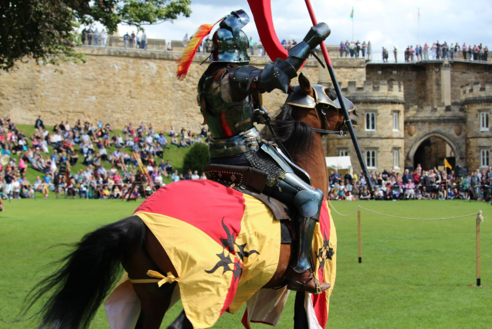 Jouster at castle