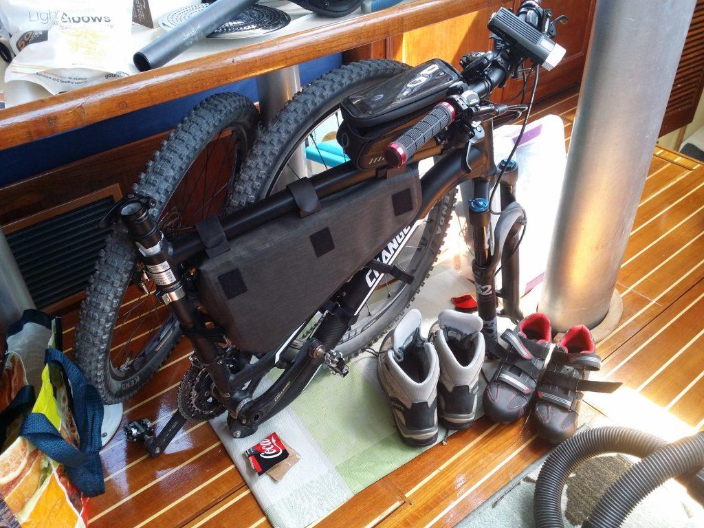 folded MTB on boat