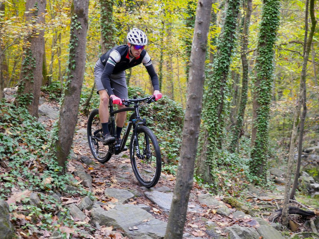 cyclist on CHANGE folding MTB