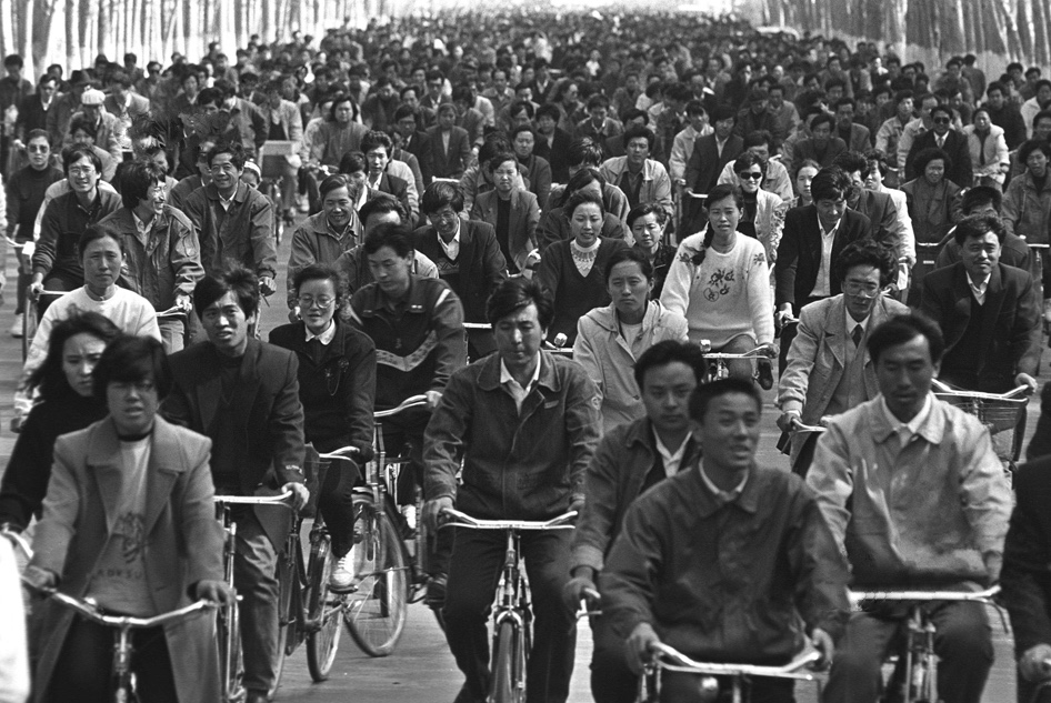 Commuting by bike in China