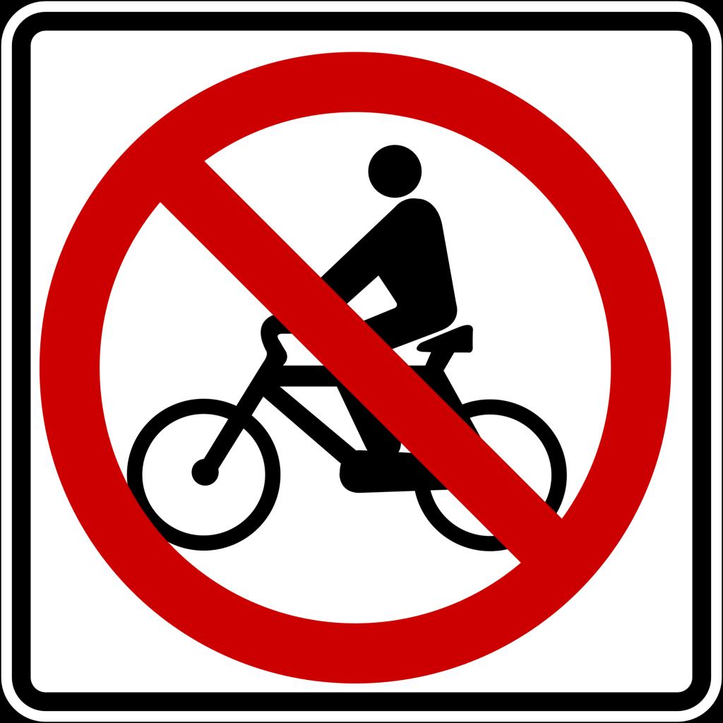 no biking here