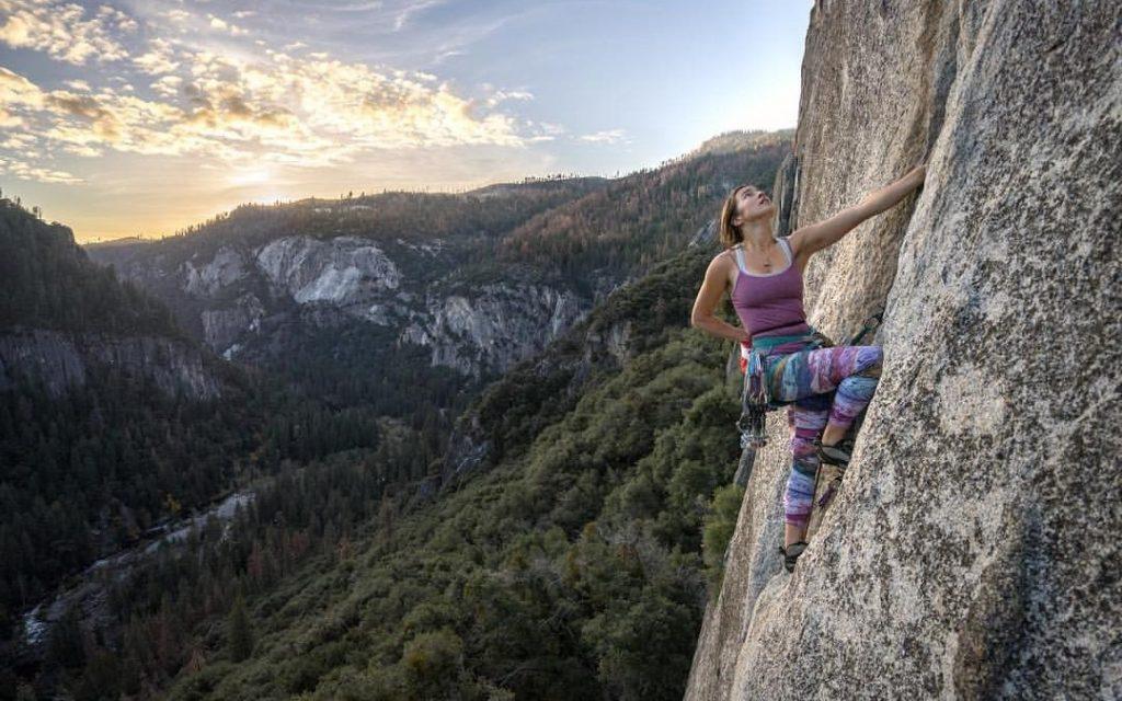 woman cliff climber